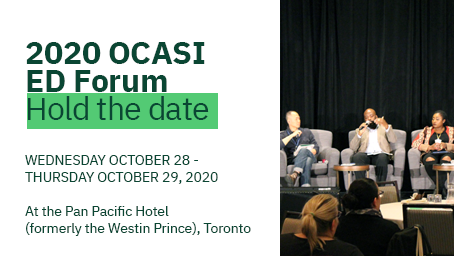 Banner of the 2020 OCASI ED Forum