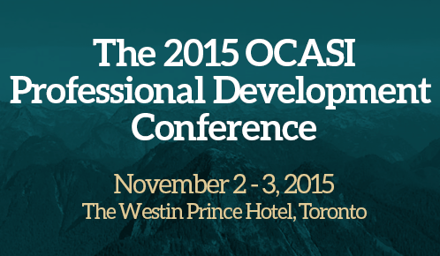 The 2015 OCASI Professional Development Conference