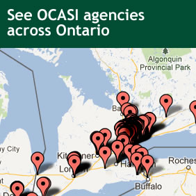 Click to find see OCASI agencies plotted on a map.