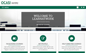 Web screenshot of LearnAtWork.ca