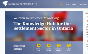 Web screenshot of SettlementAtWork.org