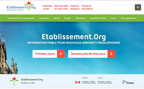 Web screenshot of Etablissement.org