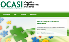 Web screenshot of OrgWise.ca